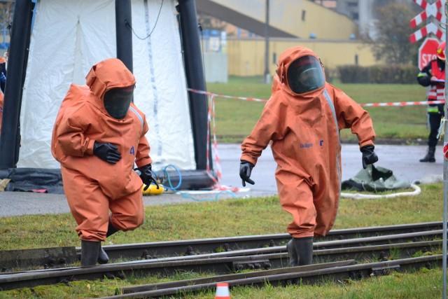 Na terenie fabryki IP w Kwidzynie odbyły się w piątek ćwiczenia ratownicze.