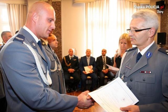 Żorscy policjanci odebrali awanse