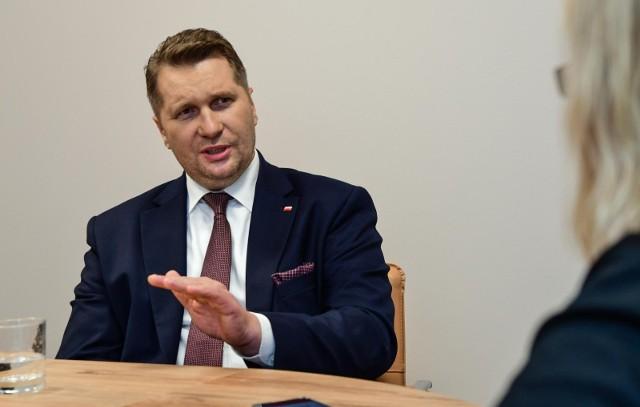 Minister edukacji i nauki Przemysław Czarnek rozmawiał z nami o szkole w pandemii, nauczycielach i zmianach w prawie oświatowym