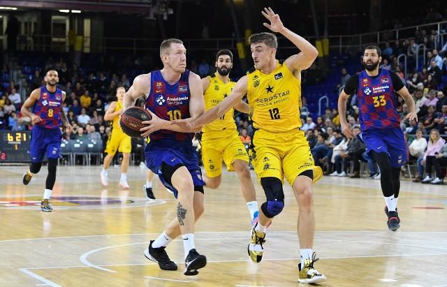 Tomasz Gielo w niedawnym meczu Iberostaru z Barceloną.