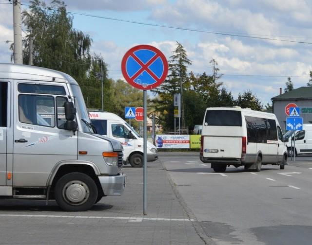 Przystanek busów w Proszowicach