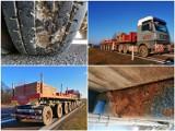 Przeładowana ciężarówka zatrzymana w okolicy Piask. Zastrzeżeń było więcej: pęknięta szyba, uszkodzone opony. Zobacz zdjęcia