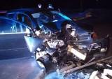 Uhowo. Wypadek na budowie wiaduktu kolejowego. Pijany kierowca rozbił samochód (zdjęcia)