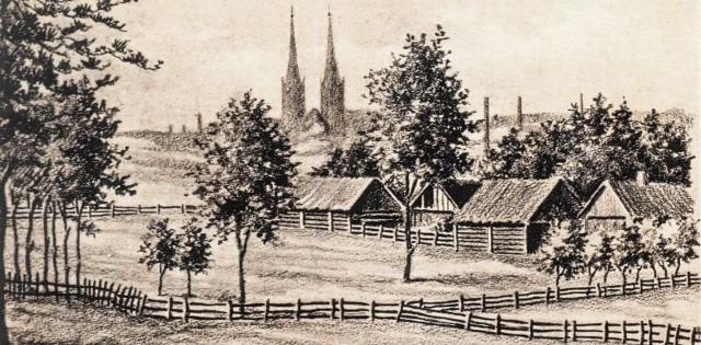 13 sierpnia 1915 roku Białystok zajęli Niemcy. Nieznany nam bliżej rysownik Kurt Wasser 27 sierpnia uwiecznił panoramę miasta.