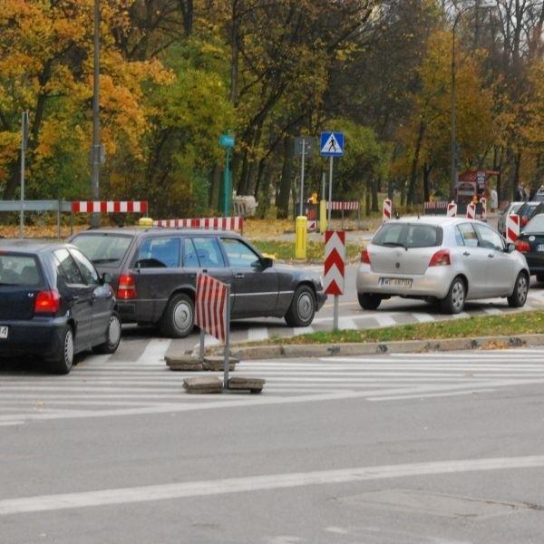 Korki na remontowanych ulicach Białegostoku to norma. Na zdjęciu: wjazd na ulicę Legionową