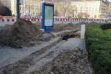 Przebudowa pl. Kościuszki może się przedłużyć. Do akcji wkroczyli archeolodzy (ZDJĘCIA)