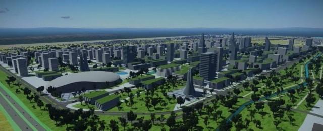 Wizualizacja dzielnicy wieżowców, jaka ma powstać na Rybitwach