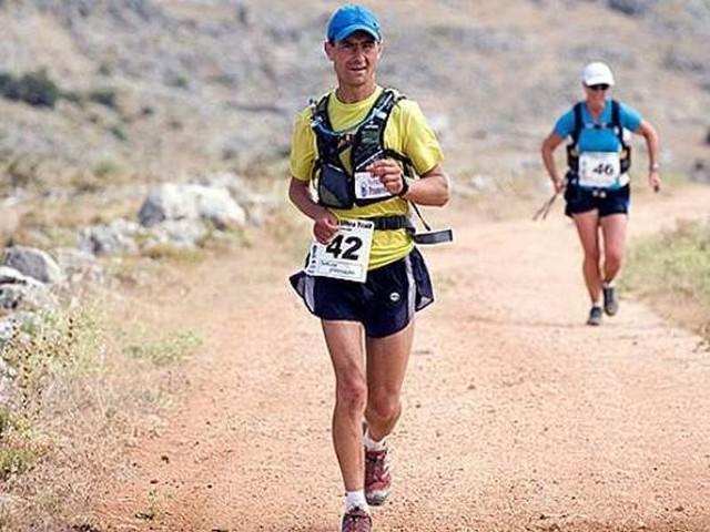 W lipcu 2014  Dariusz Strychalski (na pierwszym planie) roku ukończył morderczy bieg przez Dolinę Śmierci