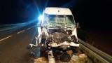 Stawiane. Wypadek na DK61. Litewski bus uderzył w ciągnik. Dziewięć osób rannych (zdjęcia)