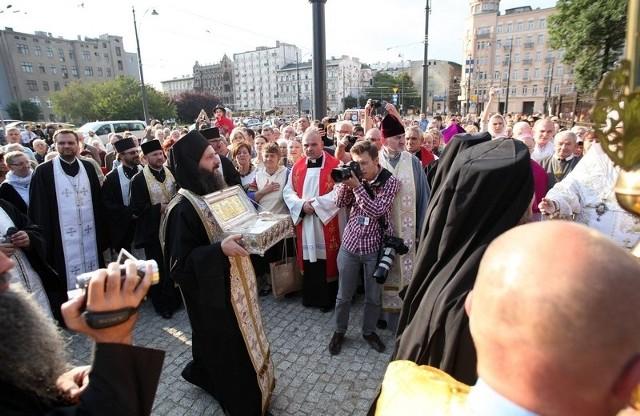 Relikwie przywieźli mnisi z monasteru na górze Athos.