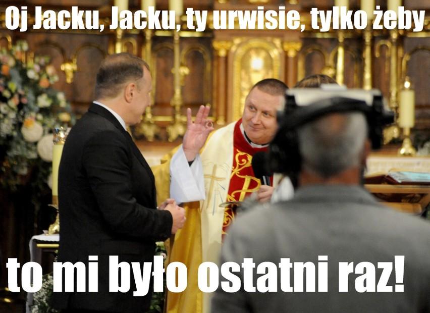 """Drugi ŚLUB kościelny Jacka Kurskiego NOWE MEMY. """"I że Cię nie opuszczę aż do unieważnienia małżeństwa"""""""