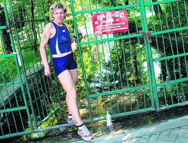 Wielka woda stoi na trasie treningów biegaczki Janiny Malskiej