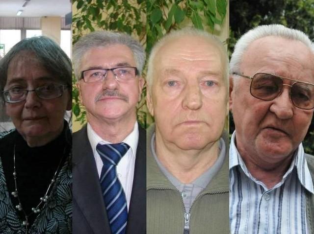 Od lewej Grażyna Pytlak, internowana w grudniu 1981 r., Jan Kubera, internowany w maju 1982 r., Marian Gapiński, internowany w maju 1982 r., Włodzimierz Bogucki, internowany w grudniu 1981 r.