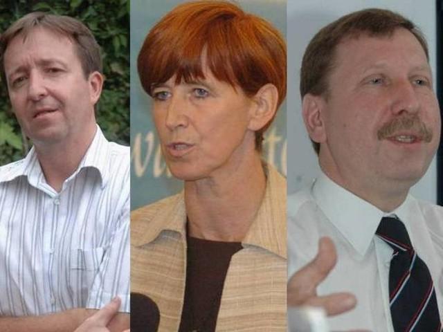 Witold Pahl, poseł PO z Gorzowa; Elżbieta Rafalska, posłanka PiS z Gorzowa i Henryk Maciej Woźniak senator PO z Gorzowa