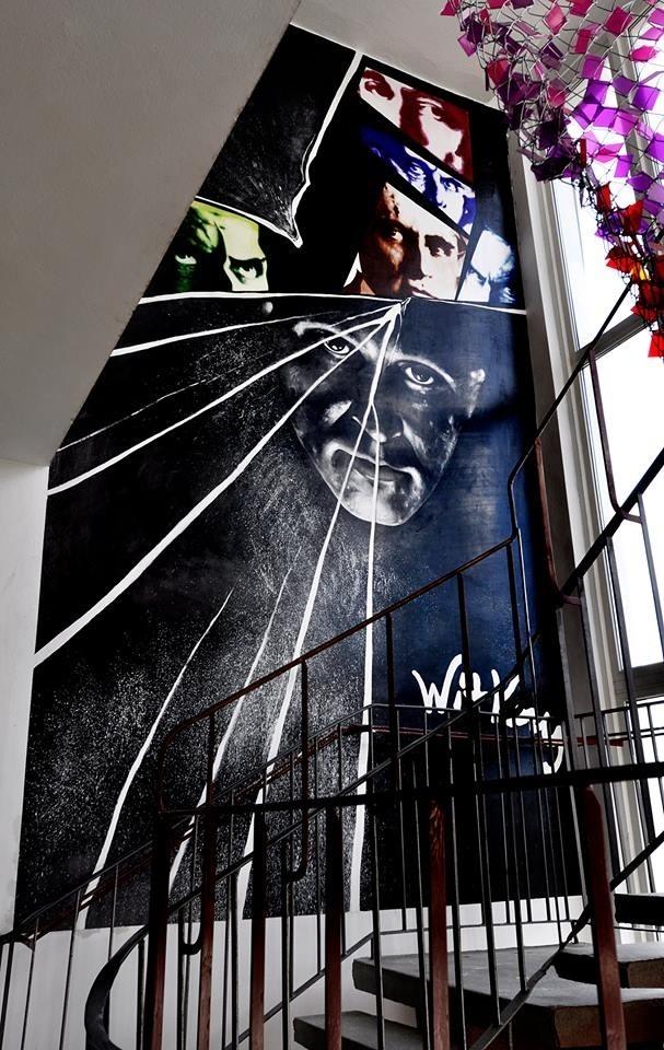W Liceum Plastycznym przy Zespole Szkół Informatycznych w Słupsku powstał mural przedstawiający Witkacego.