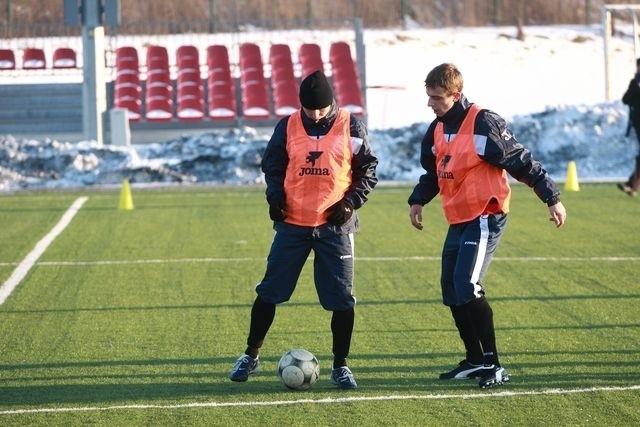 Piłkarze Jagiellonii ciężko trenują w Gutowie