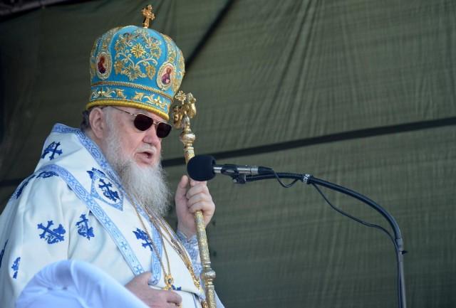 Bielsk Podlaski 10 06 2019. Święto bielskiej ikony Matki Bozej. Na zdjęciu metropolita Sawa