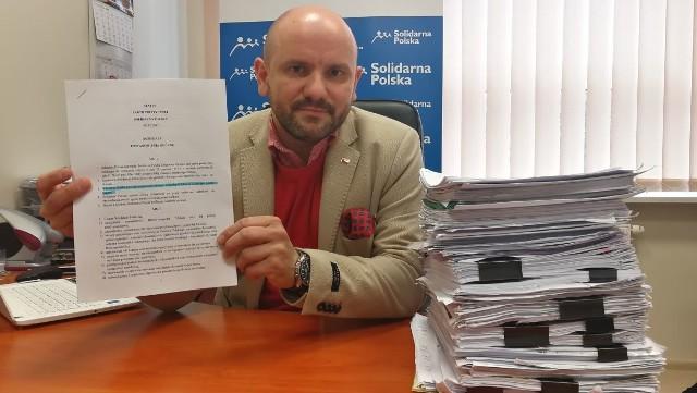 Mariusz Gosek - sekretarz generalny Solidarnej Polski oraz dyrektor biura parlamentarnego Zbigniewa Ziobro i Jacka Włosowicza w Kielcach.