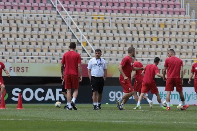 Reprezentacja Macedonii trenuje przed meczem z Polską