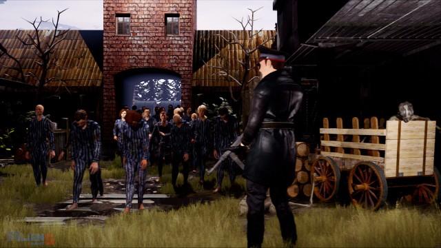 W niemal każdym fragmencie gry widać cierpienie więźniów obozu i brutalnych strażników, którzy zabijają ich na różne sposoby