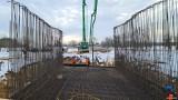 Obwodnica Kędzierzyna-Koźla. Pomimo zimy trwają prace przy budowie mostów i wiaduktów [ZDJĘCIA]