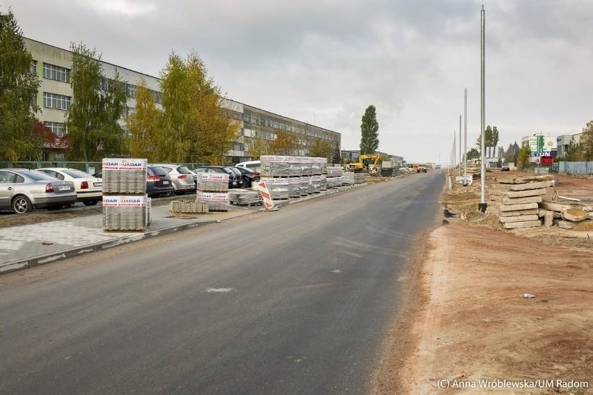 Ulica Marii Fołtyn powinna być gotowa do połowy listopada....