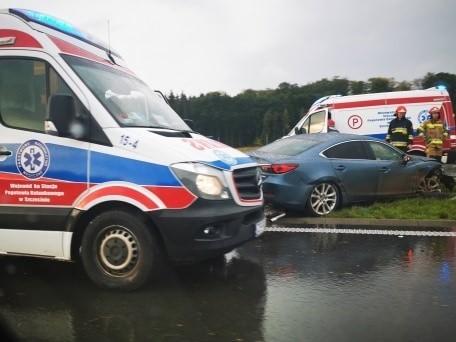 Wypadek na drodze S6 koło Koszalina
