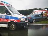Wypadek na drodze S6 koło Koszalina. Zderzenie dwóch aut [ZDJĘCIA]