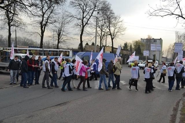 Częstochowa: Solidarność zablokowała DK 91