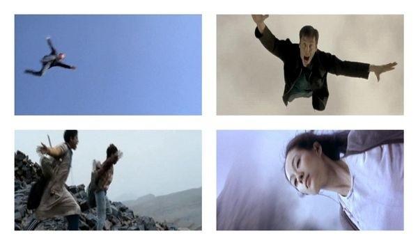 """Kadry z filmu """"Wind / Wiatr"""", z serii """"Gra zprzemieszczajacymi sie zwierciadlami"""" (fot. Arsenał)"""