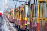 Stały tramwaje na Aleksandrowskiej