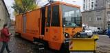 MPK-Łódź pokazało na targach dwa zbudowane przez siebie wagony techniczne. ZDJĘCIA