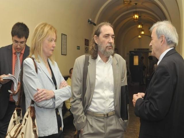 z byłymi pracownikami Janem Stranzem i Beatą Kokoszczyńską