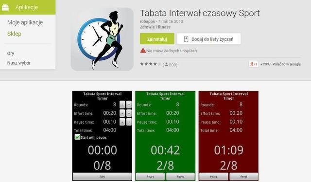 Tabata Timer - to aplikacja na smarfona, która może ułatwić ćwiczenia