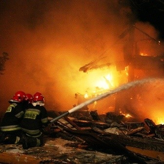 W akcji brało udział dziewięć zastępów straży pożarnej z Białegostoku i okolicy.