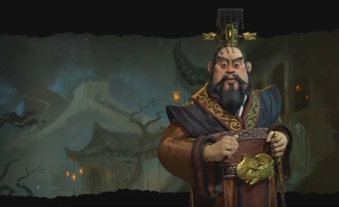 Civilization VICesarz Qin Shi Huang, przywódca cywilizacji chińskiej w grze Civilization VI