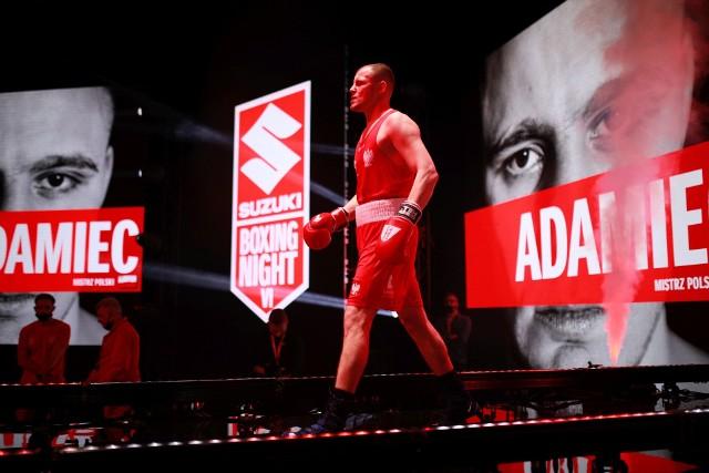 Daniel Adamiec też odniósł zwycięstwo na gali Suzuki Boxing Night w Lublinie.