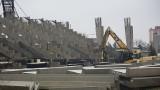 Budowa stadionu Radomiaka. Wzmacniana jest trybuna północna. Są problemy, trzeba wzmocnić filary trybun (ZDJĘCIA)