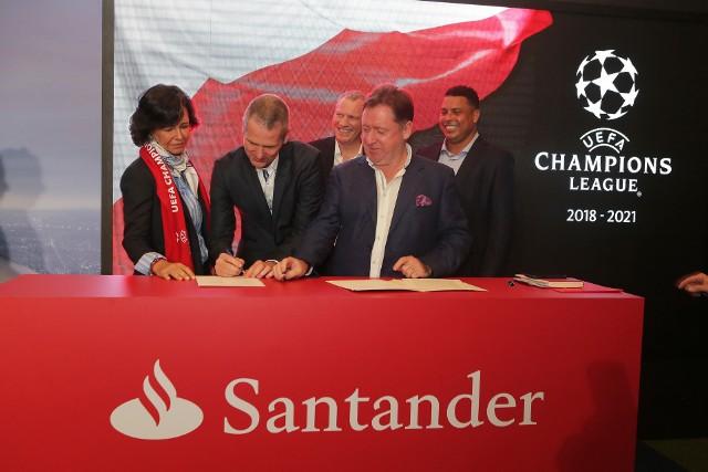 Umowa sponsoringu wzmocni związki między zawodowym futbolem a Grupą Santander.