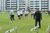 Nowi piłkarze i trener na pierwszym treningu Garbarni Kraków [ZDJĘCIA]