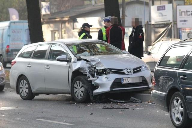 Wypadek na Krzywoustego, Wrocław, 04.11.2015