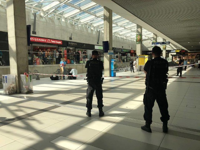 Podejrzane bagaże sprawdzili policyjni specjaliści