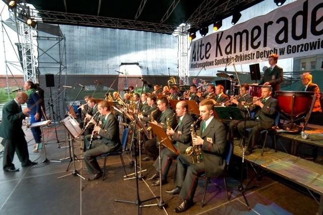Gorzowska Orkiestra Dęta podczas festiwalu Alte Kameraden w 2013 r.