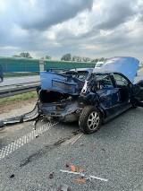 Wypadek na opolskim odcinku autostrady A4. Jedna osoba jest ciężko ranna, była reanimowana. Na ratunek lądował śmigłowiec LPR