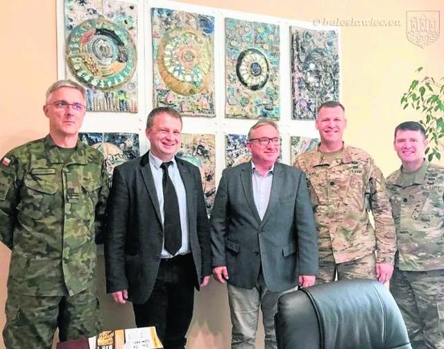 Prezydent Piotr Romand spotkał się z żołnierzami z USA