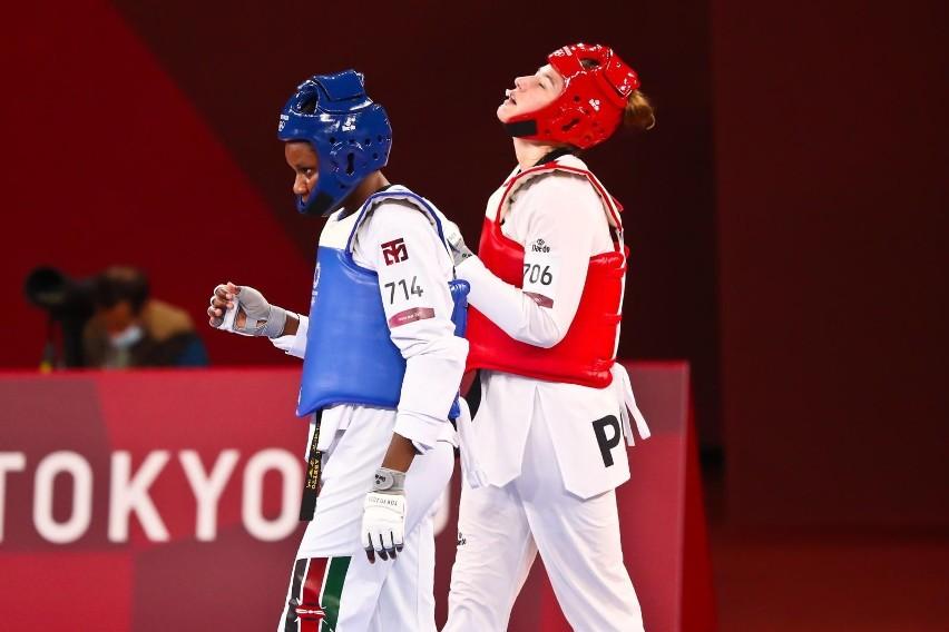 Aleksandra Karolczuk podczas walk w Tokio.