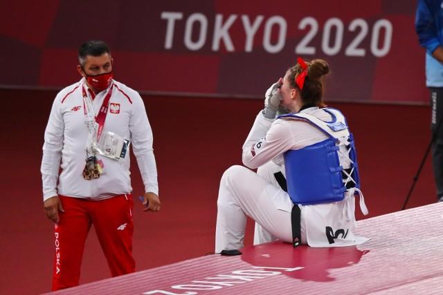 Aleksandra Karolczuk po przegranej walce o brązowy medal.