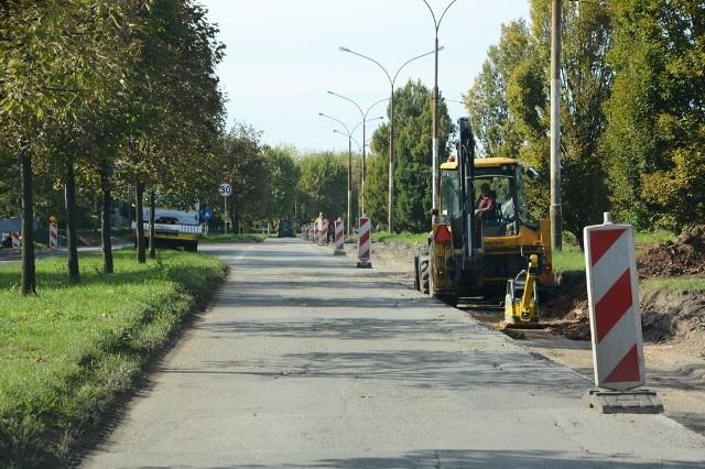 Przebudowa ulicy Kasprzaka w Dąbrowie Górniczej potrwa do połowy listopada 2018 roku