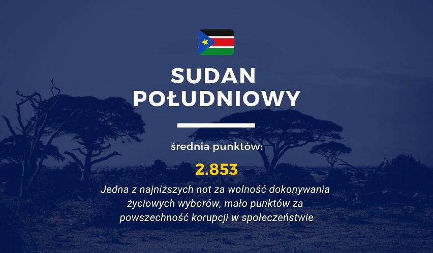 Sudan Południowy jest jednym z państw o najgorszych...
