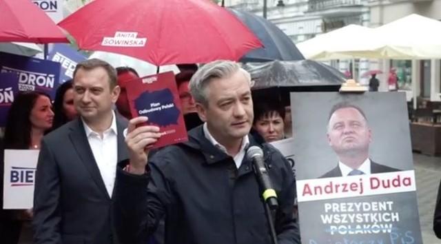 Na pięć dni przed ciszą wyborczą Robert Biedroń odwiedził Łódź.